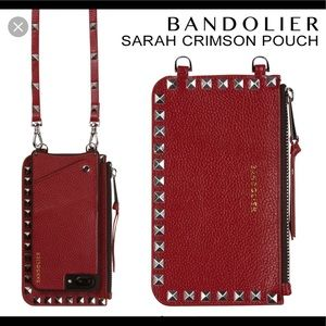 Bandolier Sarah Crimson Red Pouch (only)